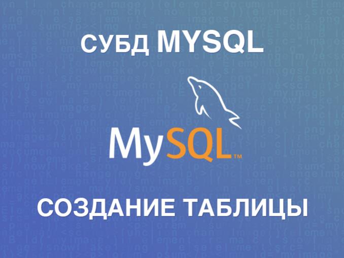 Создание таблицы в MySQL (CREATE TABLE)